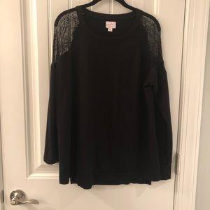 Black Isabel maternity shirt